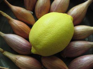 shallots and lemon