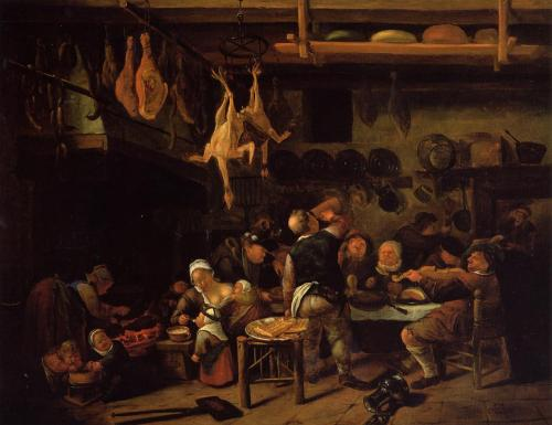 Jan Steen, Fat Kitchen